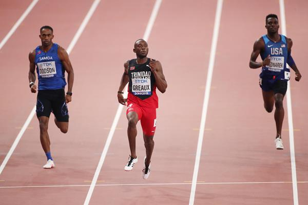 Kyle Greaux in the 200m at the IAAF World Athletics Championships Doha 2019 (Getty Images) © Copyright
