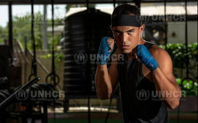 Venezuelan refugee boxer in Trinidad punches Olympic ticket